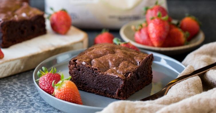 Brownies saudáveis de cacau